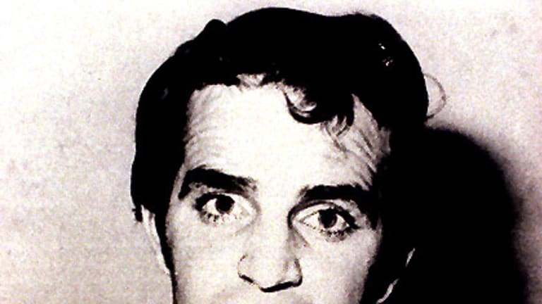 A police mug shot of notorious standover man Brian Kane, gunned down in 1982 during the underworld war over the Great Bookie Robbery.