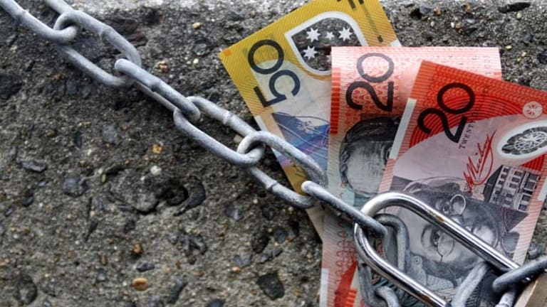 Locked away ... many consumers are reluctant to part with their money.