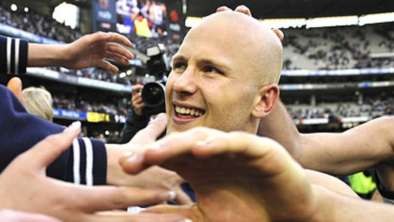 Brownlow medallist Gary Ablett, who is the centre of speculation over his future at Geelong.