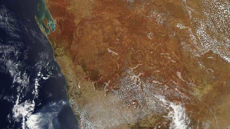 Smoke from the fire at Northcliffe in the state's South West can be seen across much of the lower half of the state.