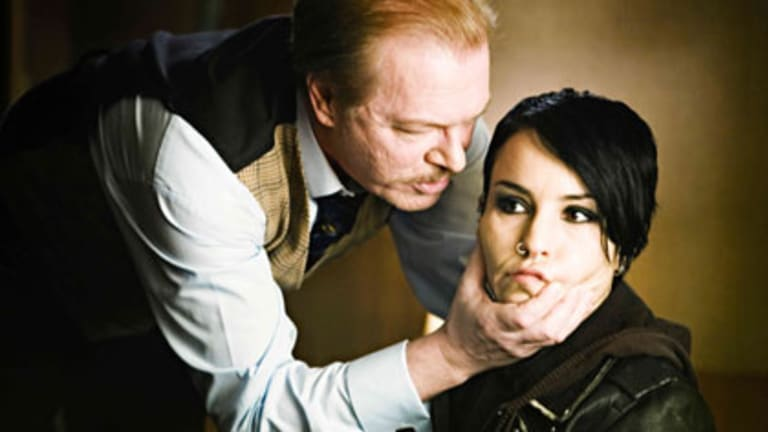 Confronting Nazi sympathies ... a scene from the film of <i>The Girl with the Dragon Tattoo</i> by Stieg Larsson.