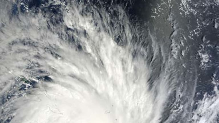 Cyclone Yasi, as seen from space.