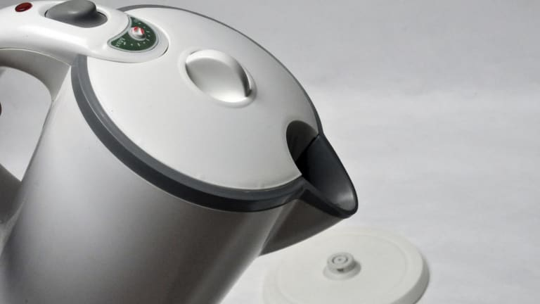 The Kambrook Axis Eco Kettle designed by Paul Taylor and Gerry Mussett.
