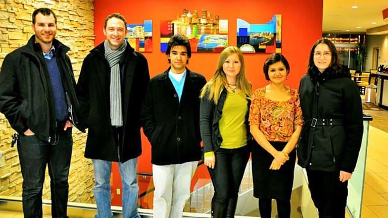 The write stuff: Drexel University stylometry researchers Mike Brennan, Ariel Stolerman, Andrew McDonald, Aylin Caliskan Islam, Sadia Afroz and Rachel Greenstadt.