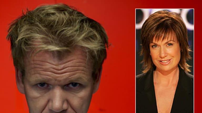 Controversy ... Gordon Ramsay and Tracy Grimshaw