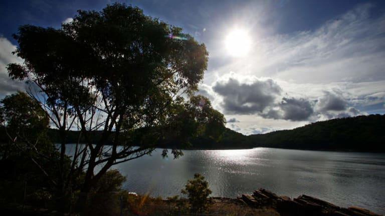Coalmining concerns: The Woronora dam.