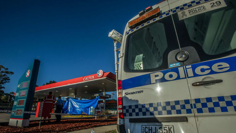 NSW police sealed off the Caltex service station.