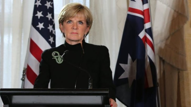 """""""Any intervention by Russia into Ukraine under the guise of a humanitarian crisis will be seen as the transparent artifice that it is"""": Julie Bishop."""