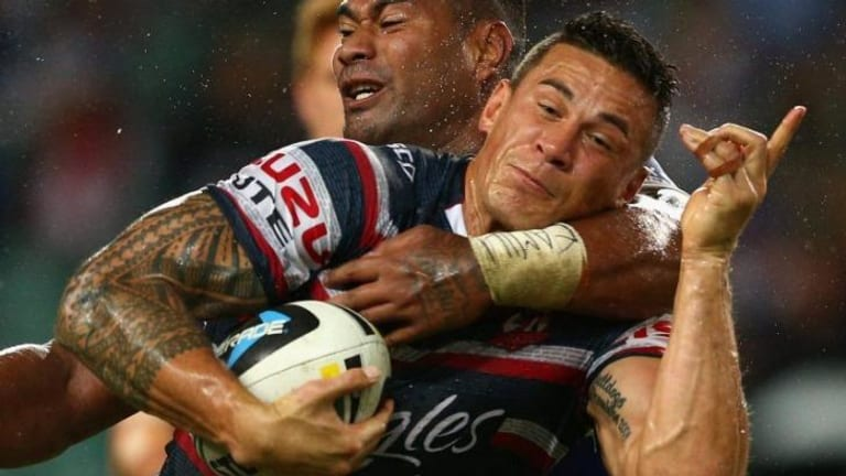 Strong return: Sonny Bill Wiliams of the Roosters.