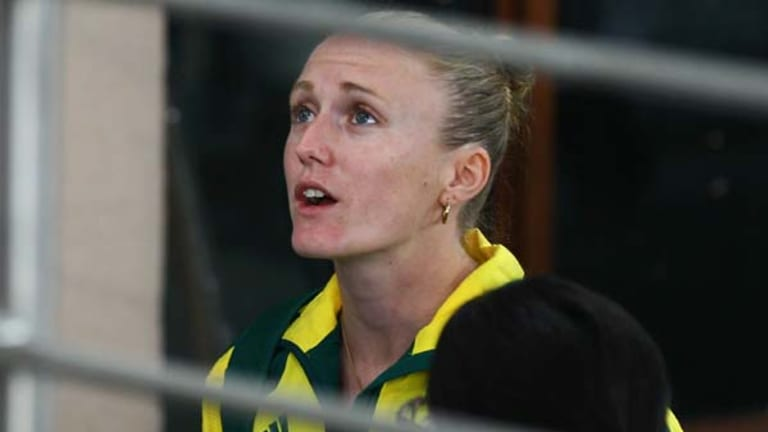 Emotional . . . Sally Pearson anxiously waiting for the jury's verdict that decided to upheld an appeal to disqualify her from the 100m.