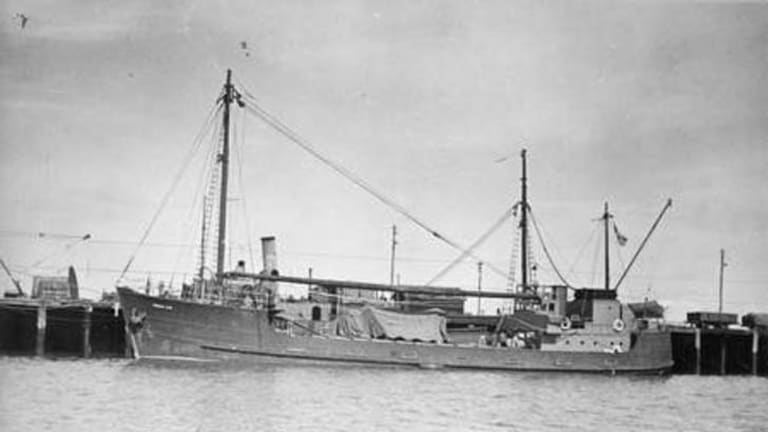 Sail away ... The HMAS Patricia Cam, on which Percy Cameron served.