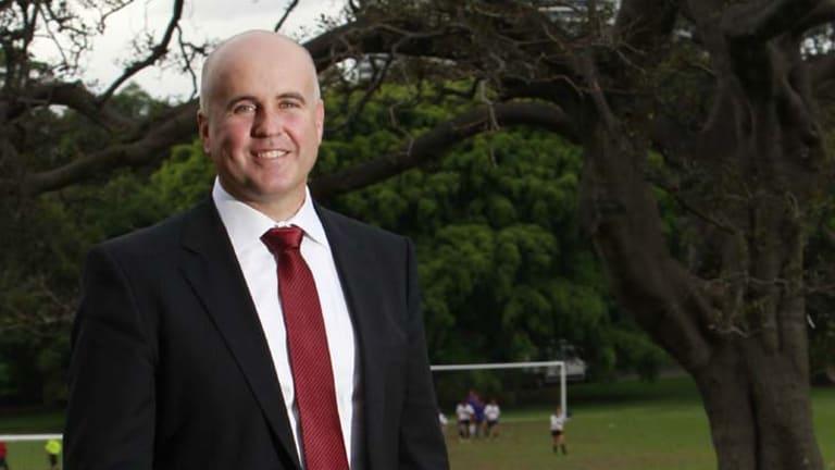 Jabbing at Labor ... NSW Education Minister Adrian Piccoli.