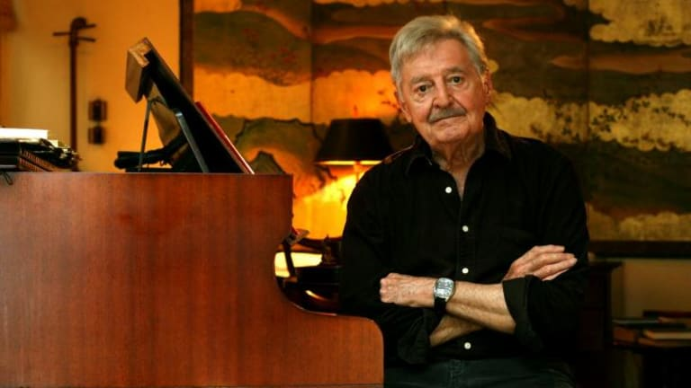 Australian of great note: The late composer Peter Sculthorpe at his Woollahra home.