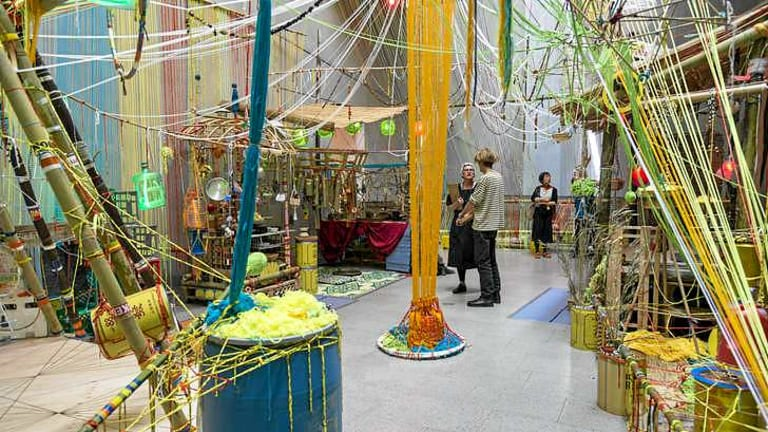 Big creation: Slow Art Collective's installation at the Melbourne Now exhibition.