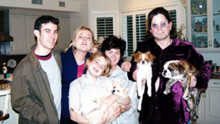 Jessie Breakwell (second from left) in her days as a nanny with the Osbourne family.