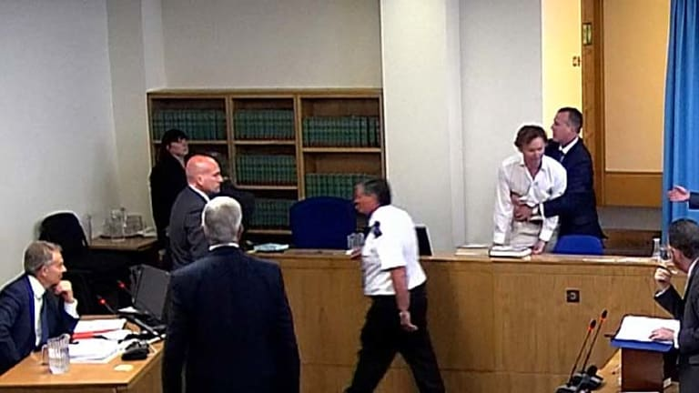 Surprise interruption ... David Lawley-Walkin burst in through a secure corridor.
