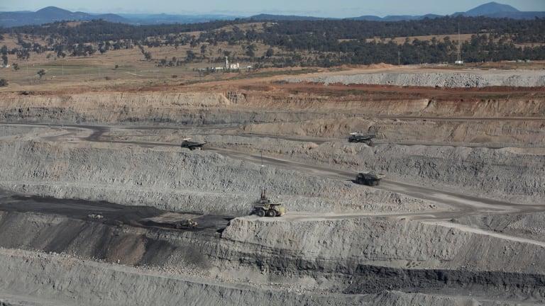 A Rio Tinto coal mine in the Hunter Valley.