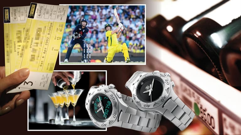 Tickets to the cricket, cocktail parties, fine wine and watches were among the disclosures.