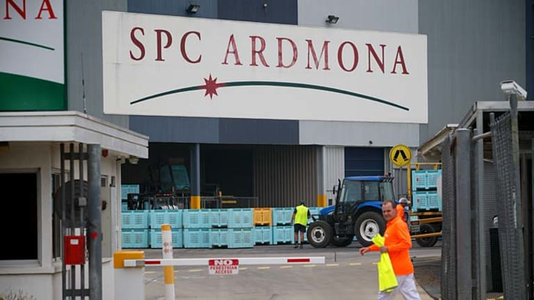 SPC Ardmona was bailed out by the Victorian government earlier this year.
