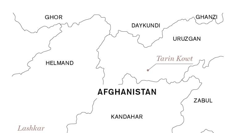 Tarin Kowt, in Uruzgan province, population 10,000.