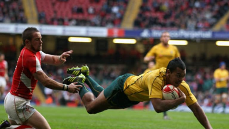 Wallaby Kurtley Beale, named in the fantasy team of 2010 by former England international Will Greenwood.