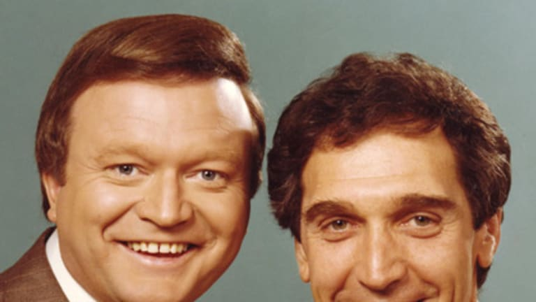 Lane with Bert Newton at the height of their variety show success in the 1970s.