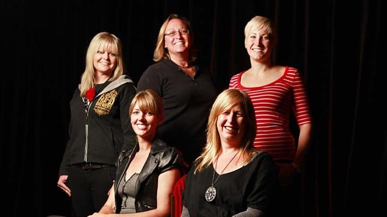 'Women in Beer' -  Nardia McGrath, Sam Fuss, Jayne Lewis (L to R back row), and Kirrily Waldhorn, Karen Golding (L to R).