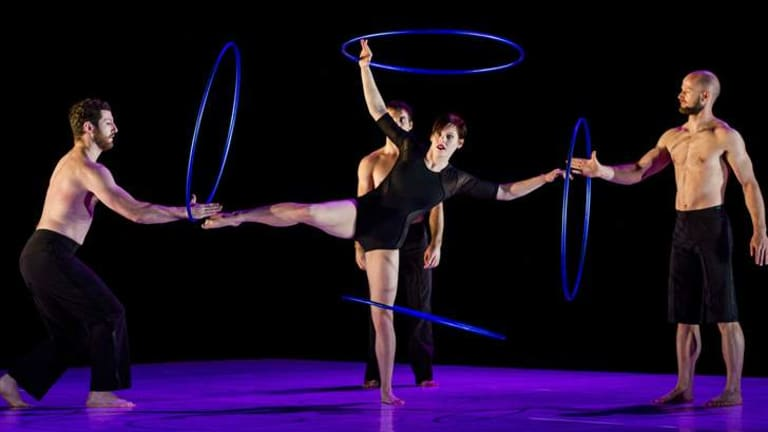 Circa performer Jessica Connell during her hula hoop routine at the Canberra Theatre.