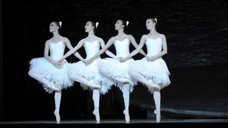 Terrific: Brooke Lockett, Benedicte Bemet, Karen Nanasca and Heidi Martin are pointe perfect.