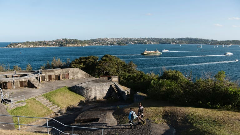 """NPWS is spruiking Middle Head, with its rich heritage of historic military fortifications, as an ideal spot for """"commercial and public events""""."""