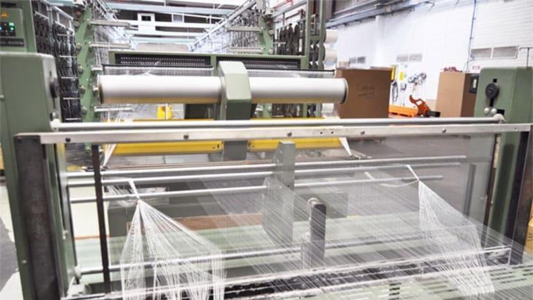 Inside a mattress factory.