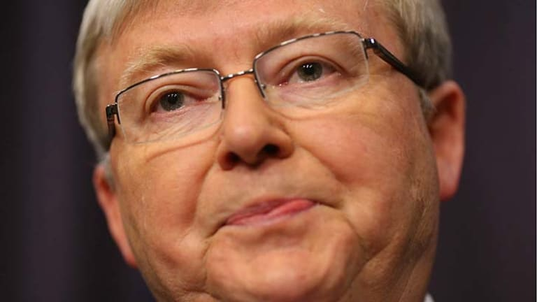 """Prime Minister Kevin Rudd: ''Today, more than ever, Australians demand to know that the Prime Minister they elect, is the Prime Minister they get."""""""