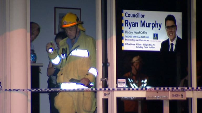 Councillor Ryan Murphy's Cannon Hill office was firebombed.