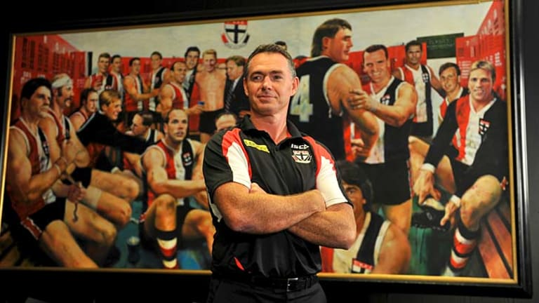 Long time coming .... new St Kilda coach Alan Richardson.
