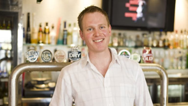 Tom Williamson has helped Adelaide's Highway Hotel recruit thousands of Facebook and Twitter fans. Picture: John Kruger.