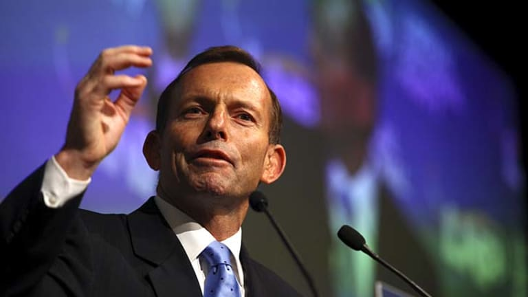 "Criticised for saying that ""China should prosper even more if its people enjoyed freedom under the law and the right to choose a government"" ... Opposition Leader Tony Abbott."