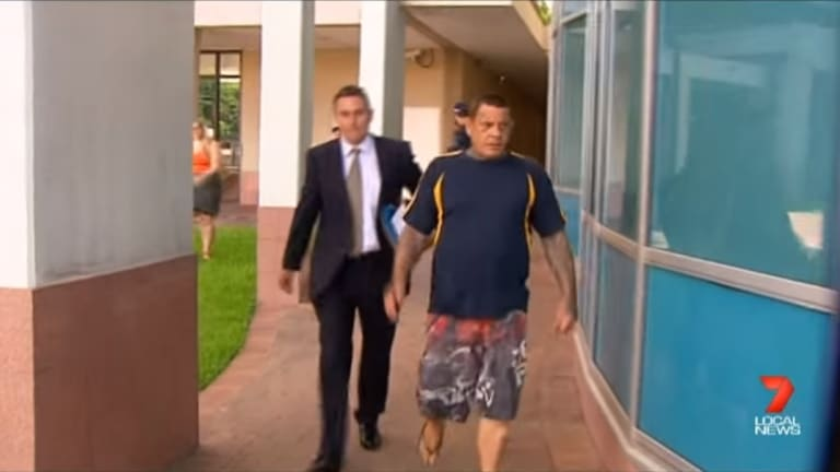 Marc Veronese leaves Cairns Watch House with lawyer Stephen O'Reilly