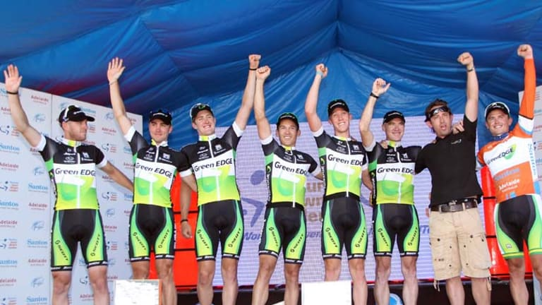 """""""We spoke with Simon [Gerrans]at the [November] training camp and his goal was always going to be the Tour Down Under"""" ...  GreenEDGE team's head sports director, Matt White."""