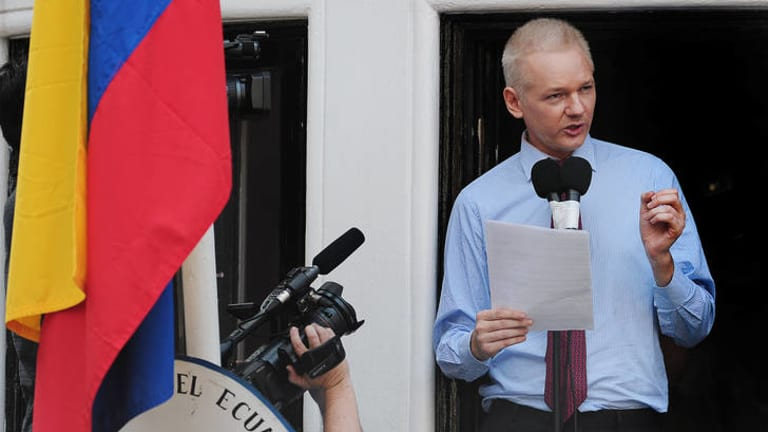 """Julian Assange ... """"enemy of the state""""."""