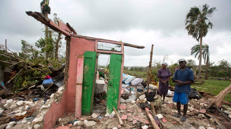 Hurricane Matthew rampaged across Haiti in October, leaving behind a path of destruction.