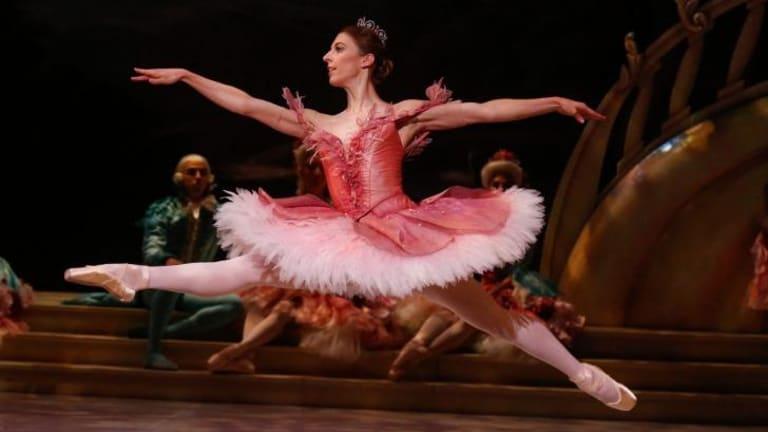 Lana Jones dances beautifully as Princess Aurora in <i>The Sleeping Beauty</i>.