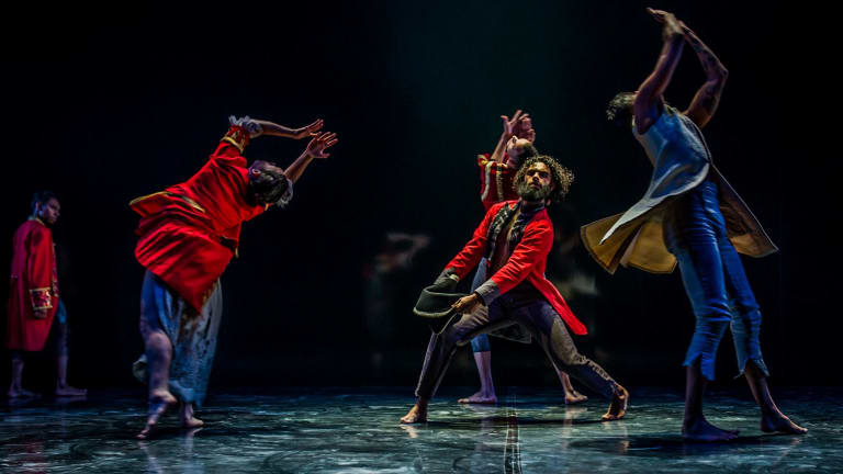 Bangarra's  Bennelong at the Canberra Theatre.