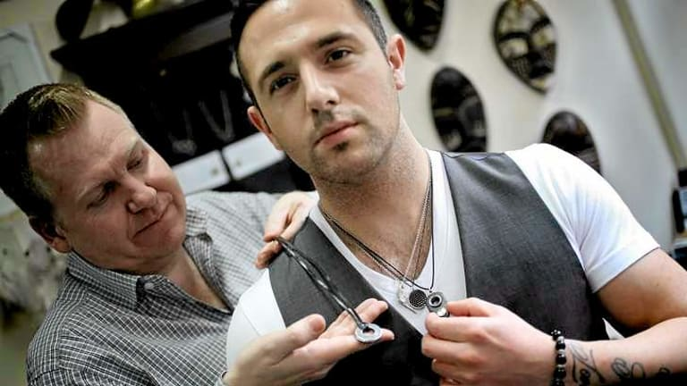 Mark Boldiston (left), owner of Lord Coconut, says men's jewellery is becoming more popular.