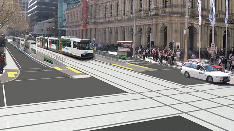 An artist's impression of the Elizabeth St stop.