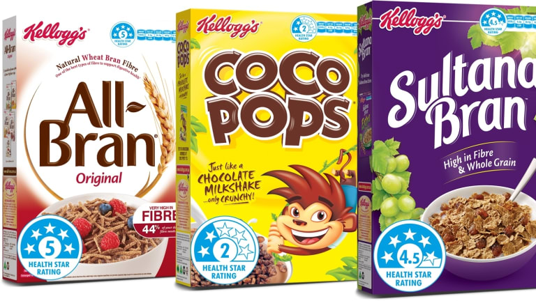 Shoppers will see health stars on Kellogg's cereal boxes from June.
