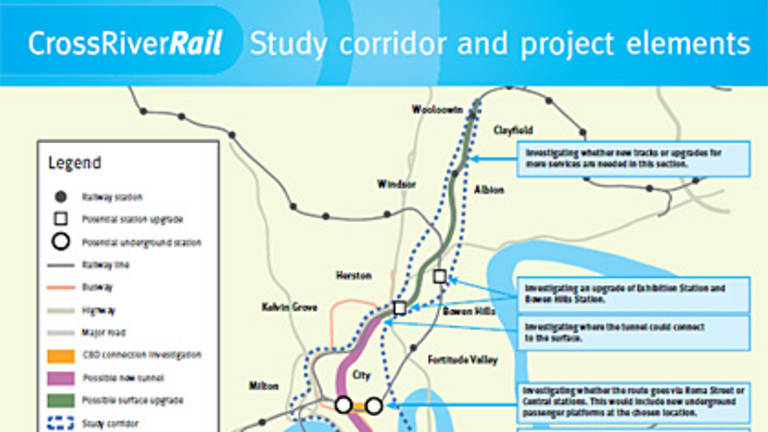 The proposed rail corridor. <B><A href= http://www.brisbanetimes.com.au/2009/corridor_map.pdf > CLICK HERE TO SEE A LARGER VERSION</a></b>
