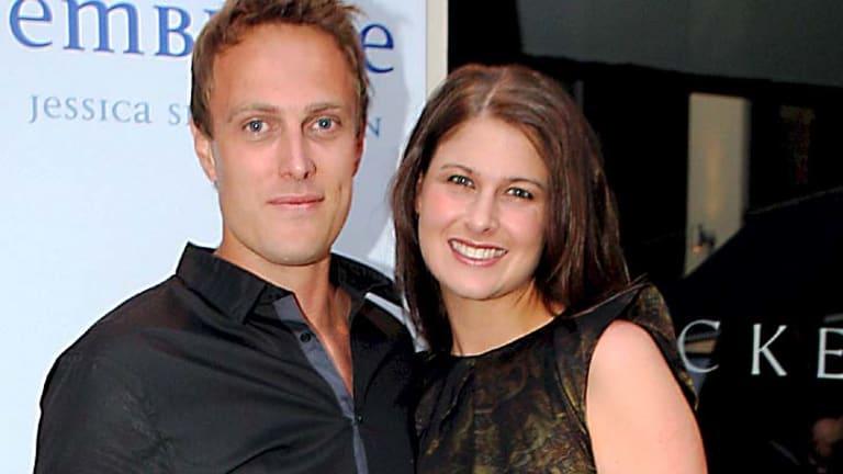 'Fairytale run' ... author Jessica Shirvington, with her husband Matt, bound for Hollywood.