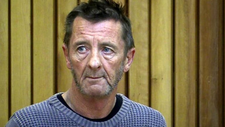 Phil Rudd in New Zealand's Tauranga District Court this afternoon.