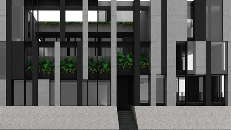 Shades of grey: An artist's impression of the boutique South Yarra apartment building.