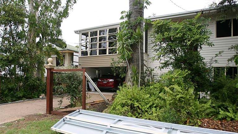 MP Robert Schwarten's Rockhampton home was left damaged after a ram-raid.